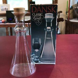 Dansk classic wine carafe w/ teak stopper